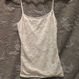 3 for $12!!!!!White lace front cami